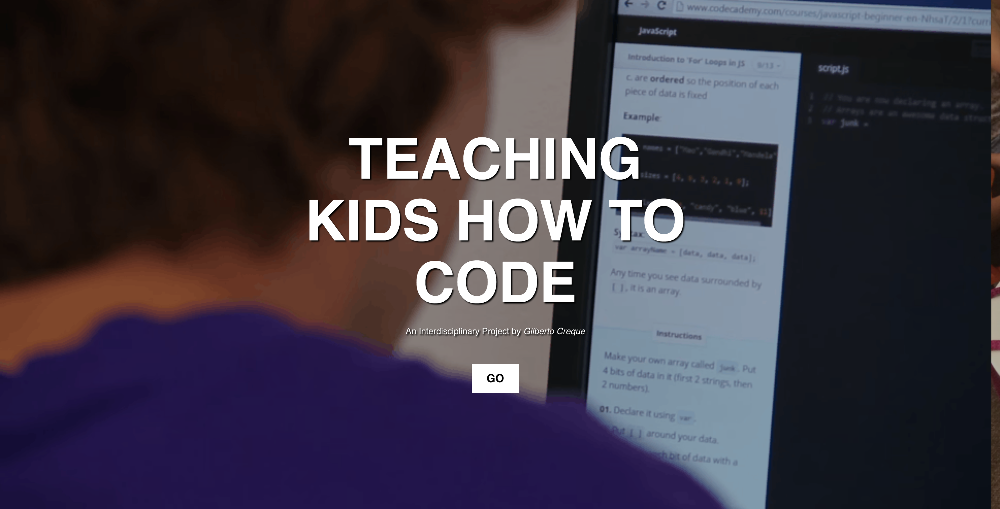 Teaching Kids to Code – Gil Creque