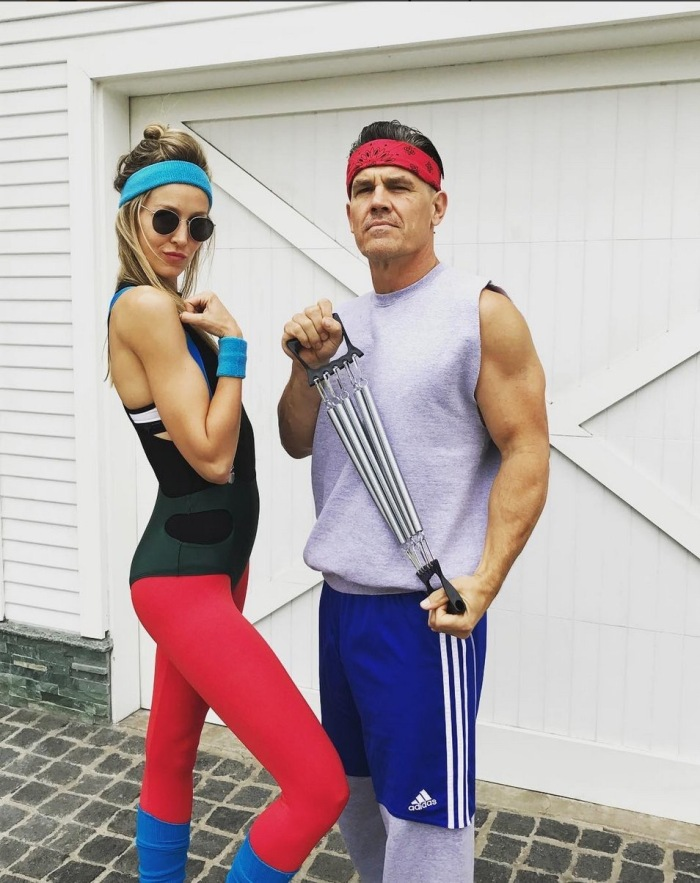 Josh Brolin dressed as himself for an 80s party